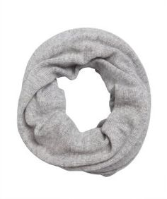 Wyattpale heather grey thermal cashmere snood