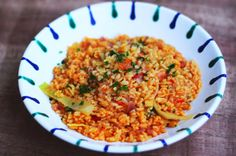 Einfaches Gemüsebulgur Fried Rice, Risotto, Fries, Food And Drink, Low Carb, Lunch, Dinner, Vegetables, Ethnic Recipes