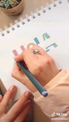 Bullet Journal Banner, Bullet Journal Lettering Ideas, Bullet Journal Notebook, Bullet Journal School, Bullet Journal Ideas Pages, Bullet Journal Inspiration, Book Journal, Hand Lettering Art, Hand Lettering Tutorial