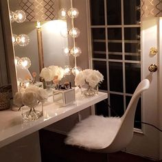 Beautiful and glamorous vanity