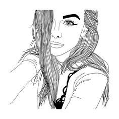 Untitled We Heart It found on Polyvore featuring women's fashion, filler, drawing and outline