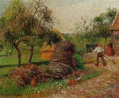 Impressionist art Mother Lucien s Yard Camille Pissarro paintings Handmade home decor High quality, Camille Pissarro Paintings, Gustave Courbet, Impressionist Artists, Edouard Manet, Post Impressionism, Paul Gauguin, St Thomas, Claude Monet, French Artists