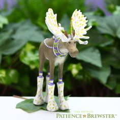 Introducing the talented Mini Milton Moose to the Patience Brewster Lineup of Mini Ornaments!
