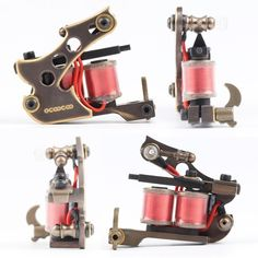 OCOOCOO T150A Pure Copper Shader Tattoo Machine Perfect Carving 10000 RMinute - Gchoic.com