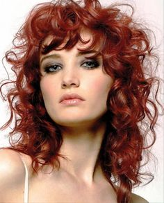 Red Curly Long Hairstyles For Women picture #prom hairstyles