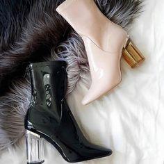 Patent Leather Booties Zara