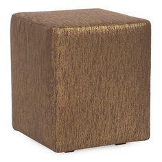 Everly Quinn Alas Cube Ottoman Upholstery: Chocolate