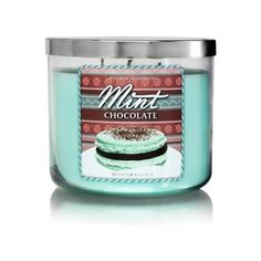 Bath Body Works Mint Chocolate 3-Wick Scented Candle (€14) ❤ liked on Polyvore featuring home, home decor, candles & candleholders, three wick candles, fragrance candles, 3 wick candles, 3 wick scented candles and three wick scented candles