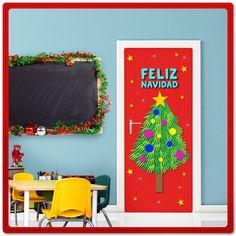 ¡Es tiempo de decorar el salón de clases! Con ayuda de #Pritt y los cuadritos adhesivos #PrittTak será divertido. ¡Muéstranos cómo les quedó! ¿Qué necesitas? Lápiz adhesivo marca Pritt, pliegos de papel rojo, estrellas de papel amarillo, manitas de tus alumnos en hojas de color verde, hojas color azul para el letrero, un hoja café para el tronco u tijeras. #Pritt #Pegamento #Manualidades #Escuela #Navidad #Crafting #Maestros #KidsCrafts