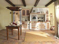 Arredare il soggiorno in stile toscano | Living room kitchen, Room ...