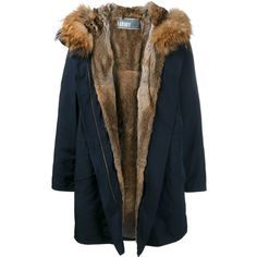 Army Yves Salomon fur lined parka (5,585 PEN) ❤ liked on Polyvore featuring outerwear, coats, jackets, parka, blue, fur coat, fur lining coat, parka coat, button coat and fur lined parka coat