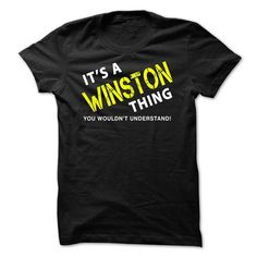 It is a WINSTON Thing tee - #clothing #capri shorts. LOWEST PRICE => https://www.sunfrog.com/No-Category/It-is-a-WINSTON-Thing-tee-Black.html?id=60505