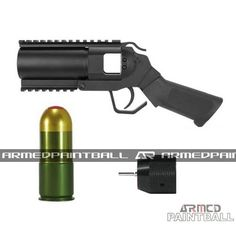"""The new Squad Blaster Paintball Grenade Launcher Pistol III is the third generation of our bestselling Grenade Launcher. This launcher pistol is extremely lightweight and durable, its small size making it an easy accessible backup weapon.  Check out this product and many more at www.armedpaintbal... Also, check out and """"like"""" our facebook page for free giveaways! Simply click on the search bar and type in """"Armed Paintball Inc"""" for more information."""