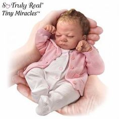 #300785001 The First-Ever So Truly Real® 10-Inch Baby Doll Tiny Miracles Emmy Doll by sensationaltreasures