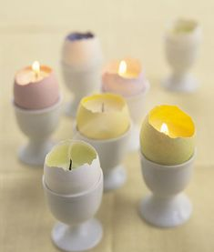 Eggshell votive candles craft