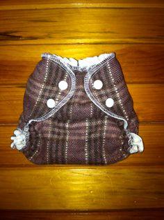 Wool Diaper in Burgundy Plaid. $25.00, via Etsy.