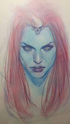 Mystique by Ben Oliver * Comic Book Artists, Comic Books Art, Comic Art, Character Drawing, Character Design, Mystique Marvel, Ben Oliver, Marvel Villains, Marvel Heroines