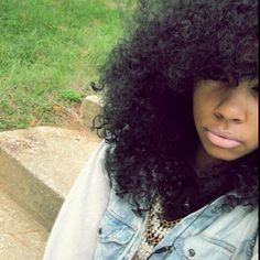 Soft big curly hair