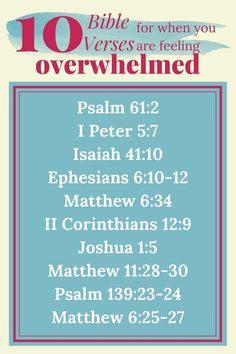 Don't be overcome by anxiety! These 10 Comforting Bible Verses For When You Are Feeling Overwhelmed are perfect for reminding you God is in control and He can bring you peace. FREE Devotional and Printable Scripture Cards too! Bible Scriptures, Bible Quotes, Devotional Bible, Prayer Quotes, Comforting Bible Verses, Bible College, Bible Knowledge, Free Bible, Christian Parenting