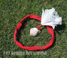 Make a safe lawn dart from plastic grocery sacks.