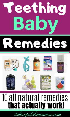 Do you have a teething baby keeping you up all night? Here are 12 all natural teething remedies to help soothe your baby's teething pain and get teething relief fast! These teething baby remedies actually work! Baby Teething Remedies, Teething Relief, Natural Teething Remedies, Natural Remedies, Baby Medicine, Sick Baby, Baby Care Tips, Baby Supplies, Baby Health