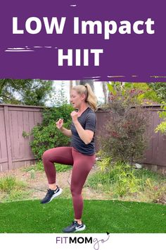 Try this low impact HIIT workout for a full body challenge that doesn't hurt the joints! #lowimpact #lowimpacthiit #hiit