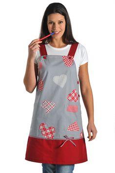 Pichi corazones DYNEKE 8336885 para maestras de educación infantil. Los adornos de patchwork la hacen bonita y elegante.  #DNK http://www.dyneke.com/ecommerce/search/search.cfm?searchCriteria=8336&customTagsSearchList=