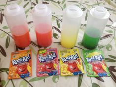 Mix Kool Aid with Water and Vinegar