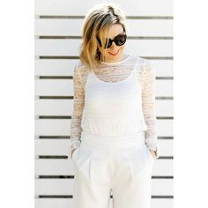 White on white,   today my look on zkstyle.com  #newpost #May #coctail #formal #white #trousers #lace #zara #mango #timemess #ootd #fashion #minimal #monochrome #stylegram #stylish #fashionista #chic #instadaily #lookoftheday #outfitinspiration #styleoftheday #tbt #wiwt #bloggerstyle #bloggerlife #lookbook #nofilter #fashionblogger #zkstyle