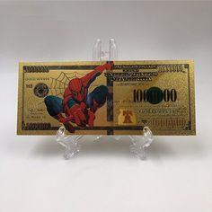 Get your hands on one of this commemorative Spiderman gold foil banknotes and you'll be feeling like a million bucks. Lab Created Diamond Rings, Lab Created Diamonds, All Spiderman, Legal Tender, Quality Diamonds, Geek Gifts, Silver Rounds, Worlds Of Fun, How To Feel Beautiful