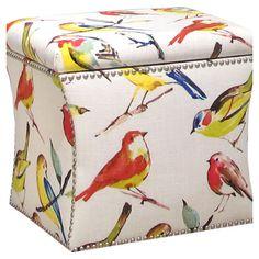 Oiseaux Storage Ottoman
