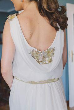 Original escote en la espalda del vestido de novia de Elisa! Beatriz Alvaro Alta Costura Madrid