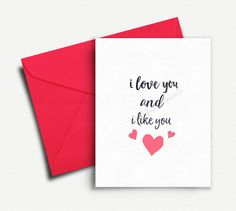 Funny Valentine Card, Valentines Day Card Boyfriend, Girlfriend, Card for Her, Card for Him, Husband, #Valentines Day Gift, #Anniversary #Card