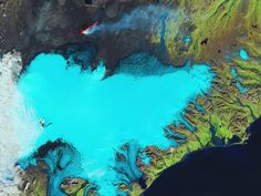 El glaciar Vatnajökull desde el espacio
