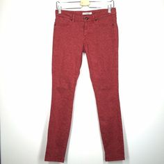 """Rich & Skinny red floral print skinny jean size 27 These Rich & Skinny red skinny jeans are like new! They are in excellent condition. 29"""" inseam. Two tone rose red color. Rich & Skinny Jeans Skinny"""