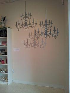 Beautiful vinyl chandeliers from Uppercase Living www.vinyldecor.ca