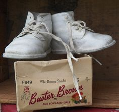 Vintage Buster Brown Baby Shoes it's great to see these supportive little shoes. no flimsy crocs or flip flops like nowadays