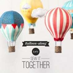 The Hot Air Balloon Sew Along - come and join in over at Craft Schmaft.