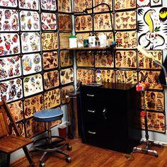 redcanary tattoo shop box decor