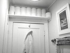 Small bathroom idea TP storage shelf by ca s
