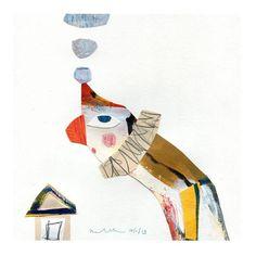 the art room plant Collage Illustration, People Illustration, Visual Communication Design, Paper Book, Italian Artist, Vintage Children's Books, Love Birds, Art Paintings, Three Dimensional