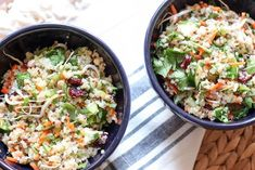 Chopped Quinoa Salad with Cranberries   Here's What Real Healthy People Actually Eat For Lunch