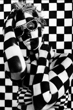 """Body Painting - """"Checkered"""" by Renee Lee."""