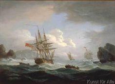 size: Giclee Print: Thomas Luny Wall Art by Thomas Luny : Plymouth, Nautical Artwork, Creepy Houses, Ship Paintings, Ship Art, Online Art, Find Art, Art Reproductions, Giclee Print