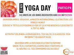 Uravioga amb els drets de les dones i les nenes, el Yoga Day i Amnistía Internacional. Dedicat a totes les persones a qui se'ls hi vulneren els drets a tot el món. Aconsegueix el teu VAL DE 3 CLASSES DE IOGA al nostre centre. Uravioga amb la defensa dels Drets Humans. Uneix-te a l'esperit del Karma Ioga i participa-hi. El nostre i el teu compromís salva vides. Namaste! http://uraviogabadalona.wordpress.com/2014/11/05/uravioga-amb-el-yoga-day-i-els-drets-humans/