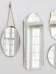 decorative mirrors. so charming!