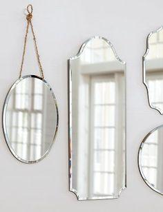 decorative mirrors. so charming!