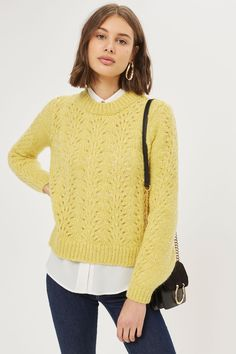 Pointelle Mohair Jumper - New In Fashion - New In - Topshop