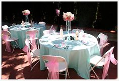 light pink and tiffany blue baby shower