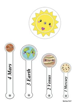 Space: Planets and Solar System Models by Spring Girl Solar System For Kids, Solar System Activities, Solar System Model, Solar System Projects, Space Activities, Toddler Activities, Diy Solar System, Science Experiments Kids, Science For Kids